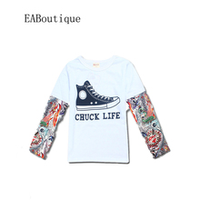 EABoutique SUMMER KIDS CLOTHES 7 DESIGNS New Fashion Rock Design tattoo arm sleeve kids T-shirts for baby boys girls