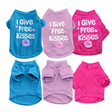 Clothes for Dogs Pet Dog Clothes for Small Medium Dog Coats Jacket All for Pets Apparel Cheap print I GIVE FREE KISSES 5(China)