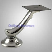 Fashionable sofa leg, coffee table feet, bed leg S shape stainless steel furniture foot 10cm
