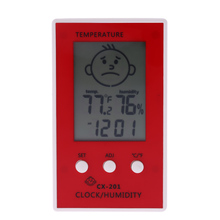 LCD Digital Thermometer Hygrometer Clock Temperature Humidity Measurement  Centigrade Degrees\Fahrenheit Comfort Level Display