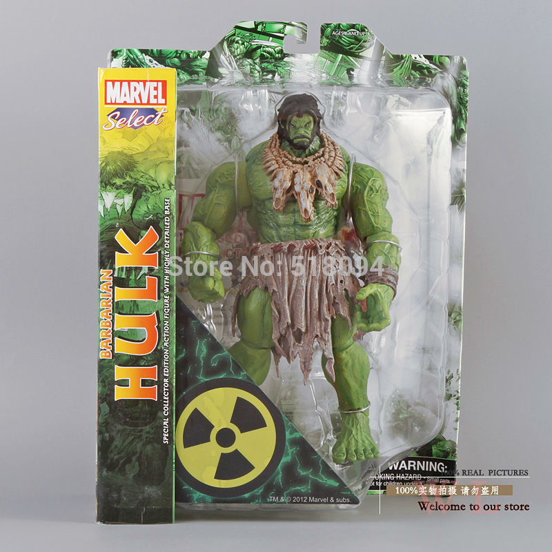 Free shipping HOT SALE MAVEL Select AMERICAN HERO The Avengers The barbarians type NEW Hulk Action Figures Toy HRFG077<br>