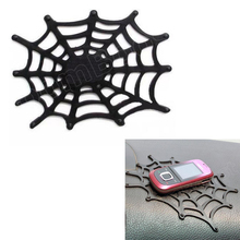 washable popular Car Non Slip Mat Grip Pad Sticky spider net Anti Skid for cellphone Mp4 GPS gadgets car Accessories(China)
