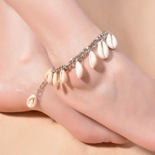 Natural Shells Anklet For Women Girl Gold Sexy Tassel Foot Chain Fashion Punk Sea Beach Jewelry Gift(China)