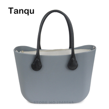 TANQU Big Classic EVA bag with Insert inner pocket Colorful Handles EVA Silicon Rubber Waterproof women bag DIY Obag Style
