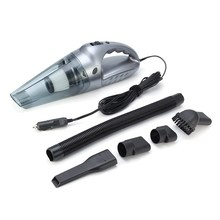 12V 120W Portable Car Vacuum Cleaner Wet And Dry Dual Use Rechargeable Auto Cigarette Lighter Hepa Filter Black Grey Gold(China)