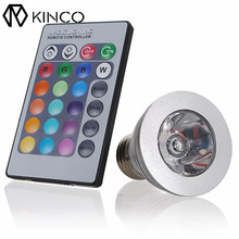 KINCO E27 85-240V AC 3W RGB High Performance LED Bulb Light 16 Color Changing Smart Home with IR Remote Control(China)