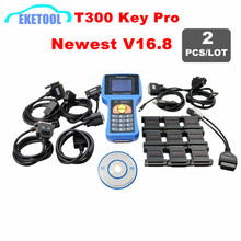 2pcs/Lot Spanish&English Version T 300 Key Maker Transponder Programming T300 Key Programmer V16.8 T-300 T-Code Latest Version