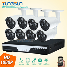New HD 8CH 2MP Home Outdoor CCTV System Kit 8 Channel Array AHD Camera DVR Video Surveillance 1080P Security Camera System