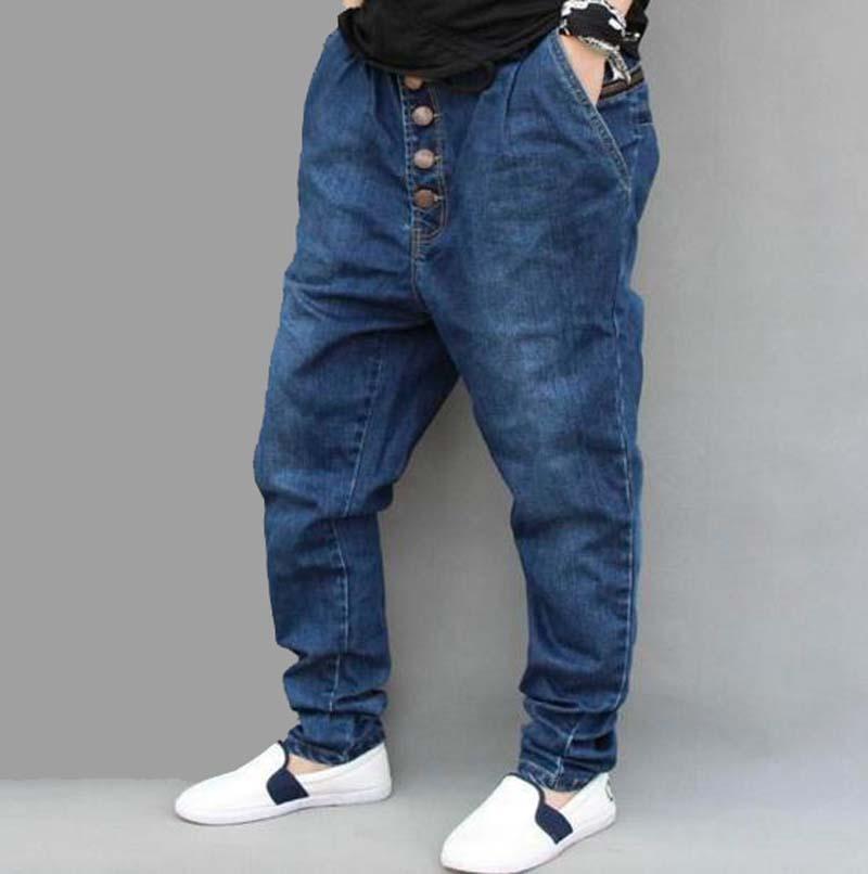 2017 new arrive fashion big crotch men Denim harem jeans male autumn spring plus size plus size skinny pencil pants loose waistОдежда и ак�е��уары<br><br><br>Aliexpress
