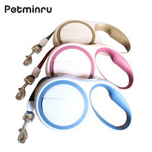 Petminru Durable Automatic Pet Dog Leashes Extending Traction Rope Retractable Pets Dog Collars Pet Leads 3M 5M(China)