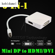Mini DisplayPort to HDMI DVI Adapter Cable 1.1 version Connector 3 in 1 Converter For Macbook To Monitor TV Max Resolution(China)