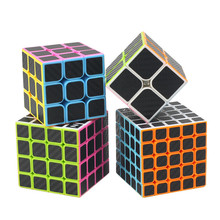Carbon Fiber Sticker Speed 2x2x2 3x3x3 4x4x4 5x5x5 Magic Cube Magico Brain Tester Educational Toys Pyraminx Skew Puzzle Cube