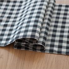 Simple and stylish plaid table runner. Black and white cotton cloth dining table, coffee table runner.