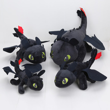 23-55cm Anime How to Train Your Dragon plush toys Toothless plush Night Fury Plush stuffed animal doll toy Christmas kids gift(China)