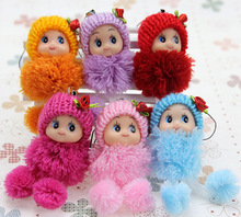 5pcs Christmas Wholesale Mobile Phone Accessories Lattice Clown Confused Doll Phone Pendant Creative Gifts