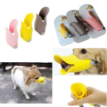 Adjustable Silicone Dog for Barking Muzzle Closed Duck Bill Design Protective Anti Bark Bite Chew Dog Training Mask Products