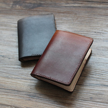 Loowey 2017 Promotion Special Offer Genuine Leather Handmade Man Wallet Mini Wallets Short Purse Money Clips Money Bag