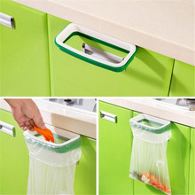 Practical 2017 NEW Fashion Hanging Kitchen Cupboard Cabinet Tailgate Stand Storage Garbage Bags Rack Drop Shipping(China)