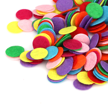 1000pcs/Lot Appliqued DIY 1.5CM Round Felt Fabric Pads Accessory Patches Circle Fabric for flower/hat/handbag/clothe/craft decor