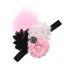 2017 Children Multicolor Really Lovely Cute Bb Girl Hearwear Headbands Feather Flower Hair Ornaments For Girls Infants Hair Band