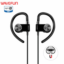 Wavefun X-Buds Metal bluetooth 4.1 wireless headphones earphone magnetic waterproof with mic&hook for xiaomi iPhone Phone sports(China)