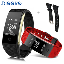 Diggro S2 Smart Band Bluetooth 4.0 Fitness Tracker Heart Rate Monitor Smart Brecelet Wristband For IOS Android PK miband 2(China)