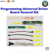 Cheap price 6 pcs set Free Programming universal driver board general kit for 12-42'' LCD TV and Laptop screen