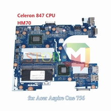 for acer aspire V5-131 laptop motherboard Q1VZC LA-8941P NBSH511001 NB.SH511.001 Celeron 847 CPU DDR3