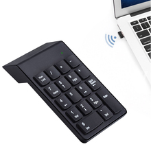 Vococal 18-Key MIni Silent Wireless Bluetooth 2.4GHz Numeric Keypad Keyboard Teclado USB Receiver for PC Laptop Tablet(China)