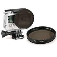 For GoPro Camera Filter 52mm Round Circle CPL Lens Filter for GoPro HERO 4 3+