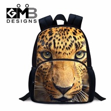 Dispalang leopard tiger lion head print kindergarten felt backpack 12 inch little boys school bags cute preschool bags for kids