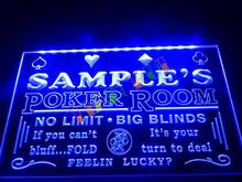 DZ005- Name Personalized Custom Poker Casino Room Beer Bar Neon Sign   hang sign home decor shop crafts