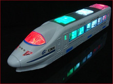 New Beautiful Lightning Electric Train Toy with Music, goes around and changes directions on contact (Battery Powered) kids gift