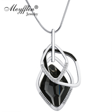 Buy Meyfflin Crystal Long Necklace Women Fashion Silver Color Chain Gemetric Pendant Necklace Maxi Collier Sweater Jewelry for $3.09 in AliExpress store