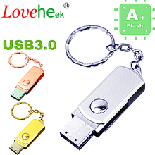 stainless steel USB Flash 3.0 4GB-64GB pendrive memory stick u disk Flash Drive USB creativo cute gift/ souvenir/Wholesale LL110(China)