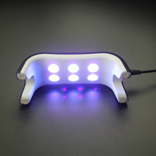 12W UV Lamp 365+405nm White Light UV LED Lamp For Nails LED Dryer Polish Machine For Curing Nail Gel Art Tools Support USB Charg