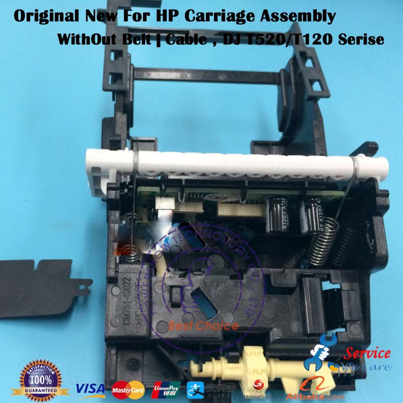 Genuine New CQ890-60239 CQ890-67002 CQ893-60077 Carriage Ass'y without Cable/ belt / Stirp For HP T120 T520 36inch 24inch Serise