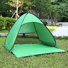 2 Persons fishing tent Outdoor camping hiking beach summer sun shelter UV protection fully sun shade Quick Automatic Opening