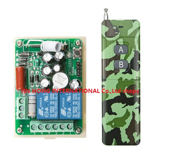 AC 220V 2 CH RF Wireless Remote Control Switch 1* Camouflage colors transmitter with 2 buttons &amp; 1 pcs receiver<br><br>Aliexpress