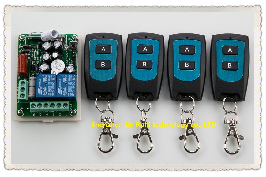 Household high quality AC 220 V 2 CH Wireless Remote Control Switch 1 receiver + 4 waterproof transmitter<br><br>Aliexpress