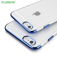 FLOVEME ipone 7 Case Original For iphone 7 Plus Case Silicone Frame Transparent Backplane Cover Luxury Slim Phone Shell  Capa