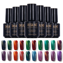 ROSALIND Black Bottle 7ML Cat Eyes Magnet C01-30 Powder UV LED Gel Nail Polish Nail Art Nail Gel Polish Magnetic Effect