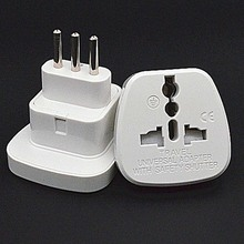 White 250V 10A Italy Standard conversion plug with security door travel study converter power outlet