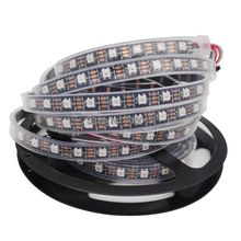 5M DC5V WS2812B Built-in WS2811 IC 60LED/M RGB Dream Color Individually Addressable Pixel LED Strip IP67 Waterproof Black PCB