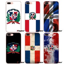 Silicone Cover Bag dominican republic flag For iPhone X 4 4S 5 5S 5C SE 6 6S 7 8 Plus Samsung Galaxy J1 J3 J5 J7 A3 A5 2016 2017(China)