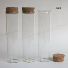20 X 60ml clear glass tube with wood cork, 2 oz cork stoppered tube,empty glass bottle cork stopper tube