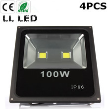 4pcs 100W Led Flood light Waterproof Led IP65 Floodlight AC85-265V Outdoor lighting garden Spot football field lighting(China)