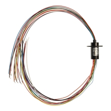 Promotion! 12.5mm 12 Circuits Capsule Compact Tiny Slip Ring 250Rpm 2A 250V Test Equipment(China)
