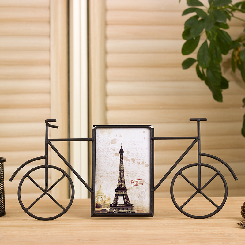 Online kopen wholesale fotolijst ijzeren uit china for Metalen decoratie fiets