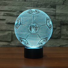 Creative Table Lamp 3D LED Visual Colorful Light Fixture USB Sleep Night Light Novelty Soccer Fashion Sports For Home Lamp Gifts(China)